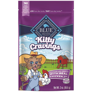 Blue Life Protection Kitty Cravings Real Chicken Treats 2 oz Cat Food Blue Buffalo