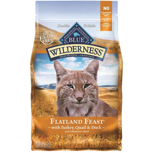 Blue Wilderness Adult Cat Flatland Feast 4LB Cat Food Blue Buffalo