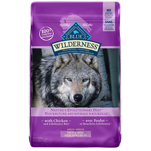 Blue Buffalo Wilderness Small Bite Adult Dog Chicken 24LB Dog Food Blue Buffalo
