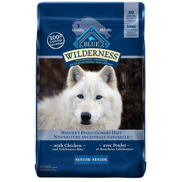 Blue Buffalo Wilderness Senior Dog Chicken 24LB Dog Food Blue Buffalo