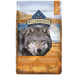 Blue Buffalo Wilderness Flatland Feast Adult Dog 22LB Dog Food Blue Buffalo