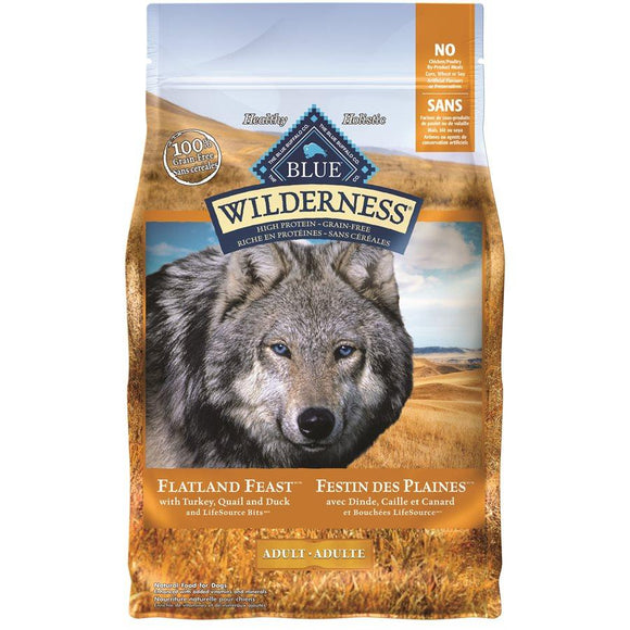 Blue Buffalo Wilderness Flatland Feast Adult Dog 4LB Dog Food Blue Buffalo