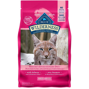 Blue Buffalo Wilderness Adult Cat Salmon 11LB Cat Food Blue Buffalo
