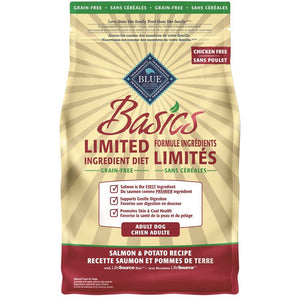 Blue Buffalo Basics Grain Free Adult Dog Salmon 4LB Dog Food Blue Buffalo