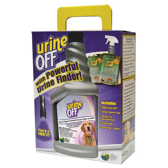Urine Off Dog & Puppy Formula Clean Up Kit with LED Light Dog Supplies Urine Off