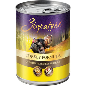 Zignature Limited Ingredient Grain Free Turkey Dog Food 12/13 oz Dog Food Zignature