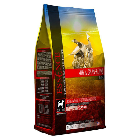 Essence High Protein Grain Free Air & Gamefowl Recipe for Dogs 4LB Dog Food Essence Pet Foods