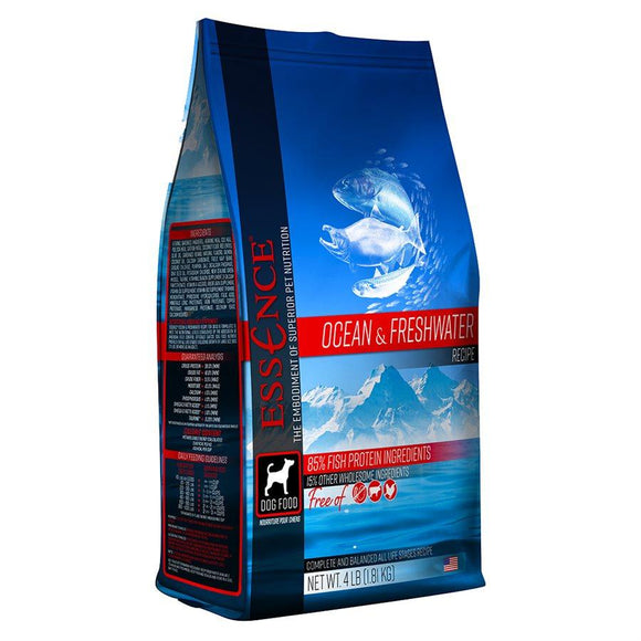 Essence High Protein Grain Free Ocean & Freshwater Recipe for Dogs 12.5LB Dog Food Essence Pet Foods