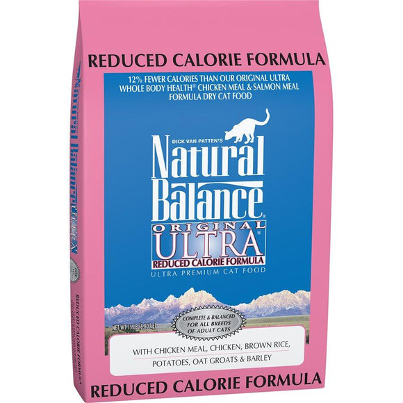 Natural Balance Cat Original Reduced Calorie Formula 15LB Cat Food Natural Balance