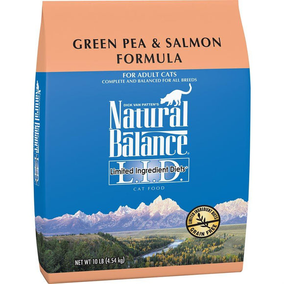 Natural Balance Cat LID Green Pea & Salmon Formula 10LB Cat Food Natural Balance