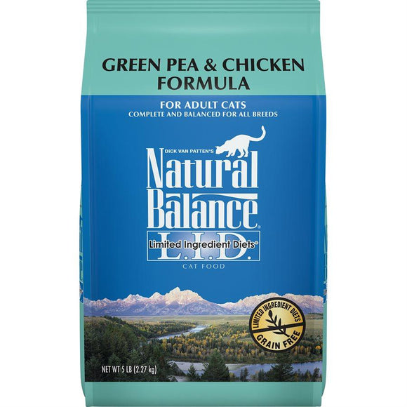 Natural Balance Cat LID Green Pea & Chicken Formula 5LB Cat Food Natural Balance