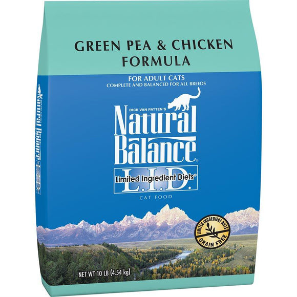 Natural Balance Cat LID Green Pea & Chicken Formula 10LB Cat Food Natural Balance