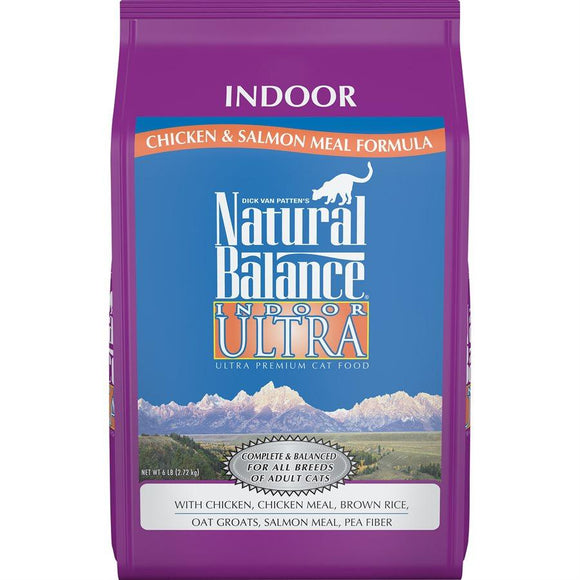 Natural Balance Cat Indoor Chicken Meal & Salmon Meal Formula 6LB Cat Food Natural Balance