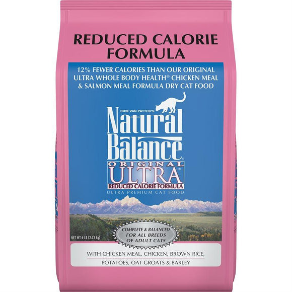 Natural Balance Cat Original Reduced Calorie Formula 6LB Cat Food Natural Balance