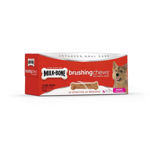 Smuckers Milk Bone Brushing Chews Mini 14 Pack 12/156g Dog Supplies J.M.Smuckers