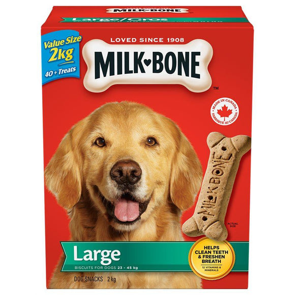 Smuckers Milk Bone Original Large Biscuits 6/2KG Dog Treats J.M.Smuckers