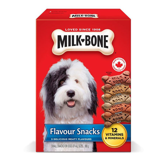 Smuckers Milk Bone Flavour Snacks Small Biscuits 12/800g Dog Treats J.M.Smuckers