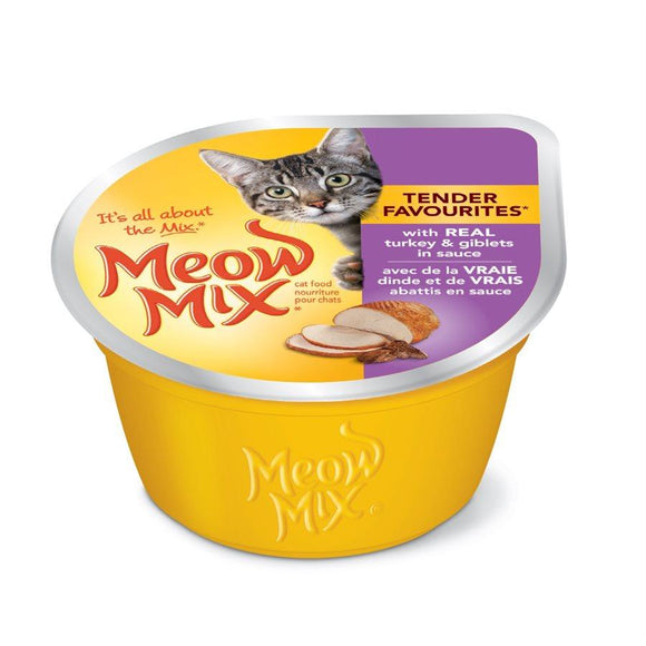 Smuckers Meow Mix Tender Favourites Turkey & Giblets Wet Cat Food 24/78g Cat Food J.M.Smuckers
