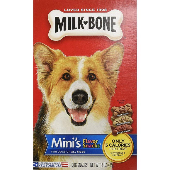 Smuckers Milk Bone Flavour Snacks Mini Biscuits 12/475g Dog Treats J.M.Smuckers