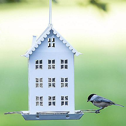 Perky-Pet White Farmhouse Bird Feeder – Holds 2.8 lbs of seed KB Depot Express