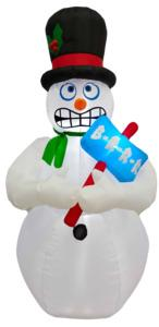 Santas Forest 90511 Inflatable Motion Snowman 6Ft Christmas Decorations Santas forest