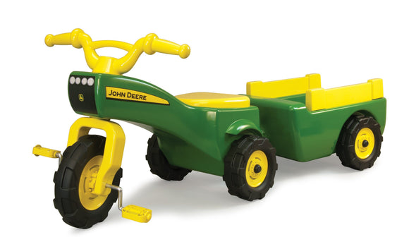 JD Trike and Wagon set Toy John Deere