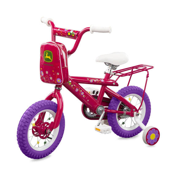 JD 12 Inch Pink Girls Bike Toy John Deere