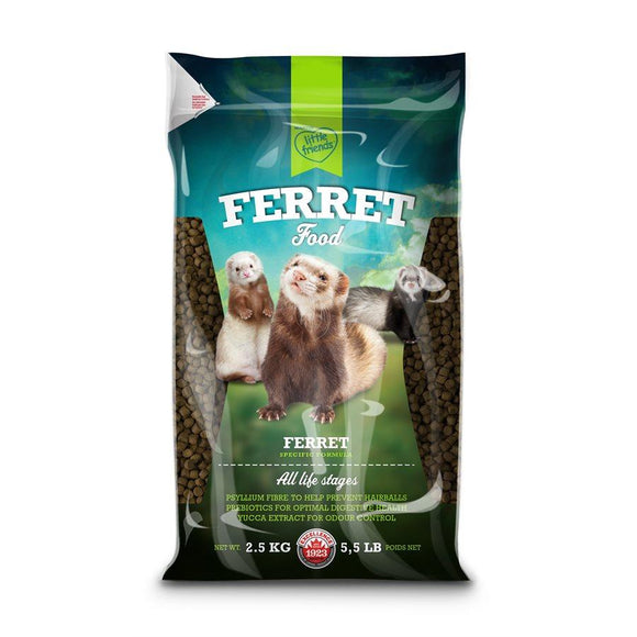 Martin Mills Little Friends Extruded Ferret Food 2.5KG Small Animals MARCAM Nutrition