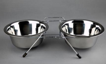 Advance Pet Products Stainless Steel Double Diners 2x1pt KB Depot Express