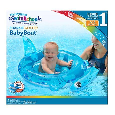 The Original Swim School Sharkie Glitter BabyBoat Pool Floatie KB Depot Express