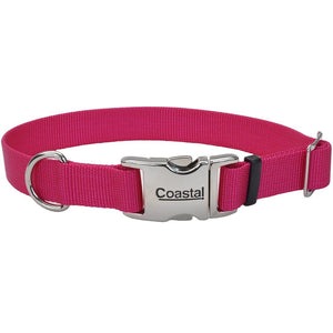 Coastal® Adjustable Dog Collar with Metal Buckle - 1in x 18-26in Pink Flamingo KB Depot Express