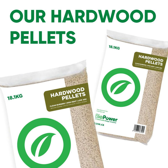 Biopower Hardwood Pellets 40lb Bag Wood Pellets KB Depot Express