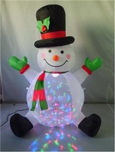Santas Forest 90323 Christmas Inflatable Snowman with Projector Christmas Decorations Santas forest