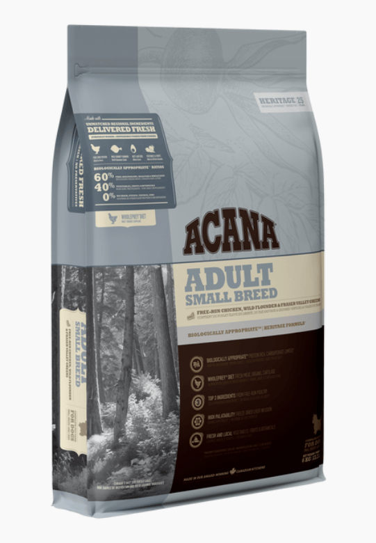 Acana Heritage - Adult Small Breed Dry Dog Food Dog Food Champion Pet Foods 2kg