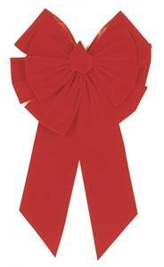 Holidaytrims 7366 Deluxe Outdoor Bow, 35 in L, 18 in W, Velvet, Red Christmas Decorations Holiday Trims
