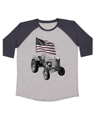 Toddler Farm Boy Tractor Flag Tee farm boy clothing farm boy