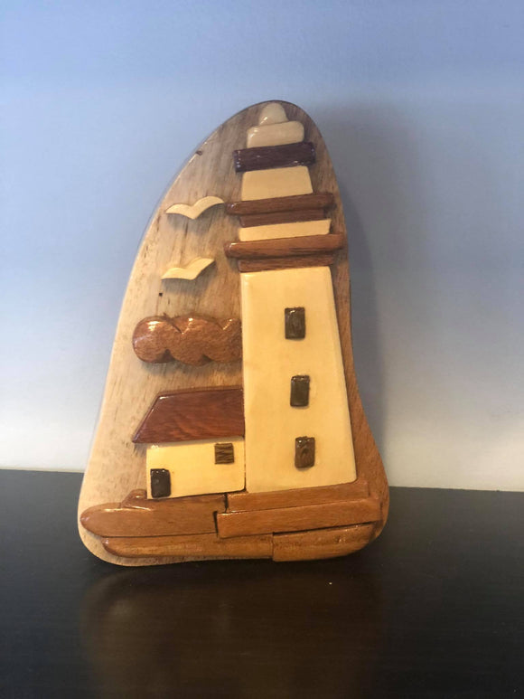 Secret Puzzle Box - Large Toy Kakabeka Depot Express Lighthouse
