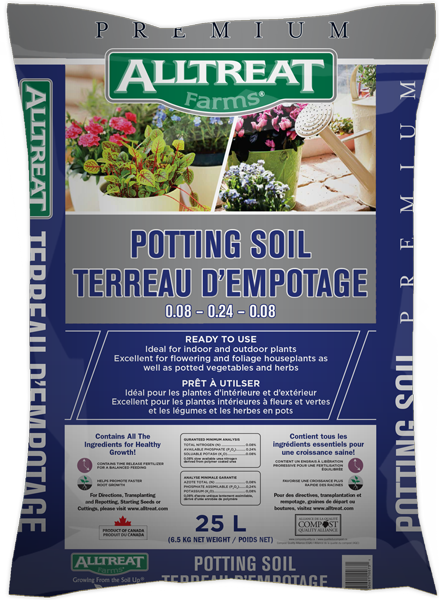 25L All Treat Farms Premium Patio Potting Soil, Bag
