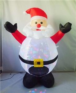 Santas Forest 4 Foot Christmas Inflatable Santa with Projector Christmas Decorations Santas forest