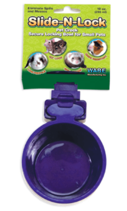 Slide-N-Lock Pet Crock feeder kanevetsupplies 10OZ
