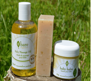 Natural Baby Care Kit giftpack Bare Organics