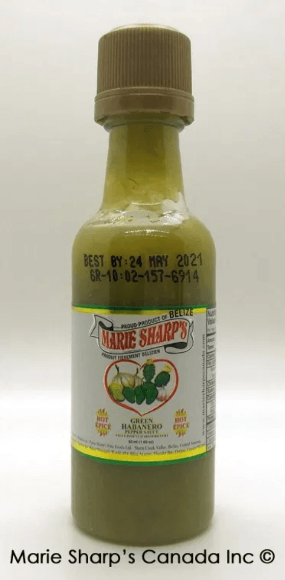 Marie Sharp's Green Habanero Nopal Prickly Pear Cactus Pepper Sauce Hot Sauce Marie Sharp's Canada Inc. 50 ml