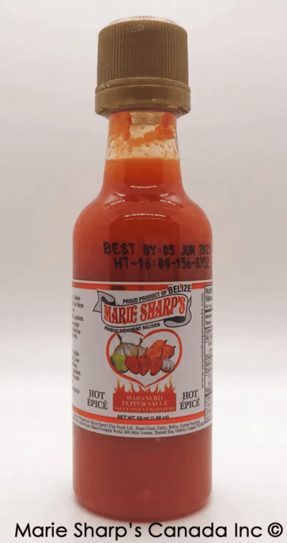Marie Sharp's Original Hot Habanero Pepper Sauce Hot Sauce KB Depot Express 50 ml