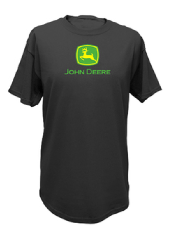 Men's Black Classic Logo Tee John Deere Clothing John Deere Clothing