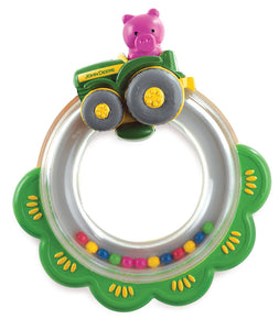 JD Tractor Ring Rattle Toy John Deere