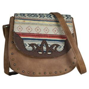 Justin crossbody Aztec studded purse Purse Trenditions