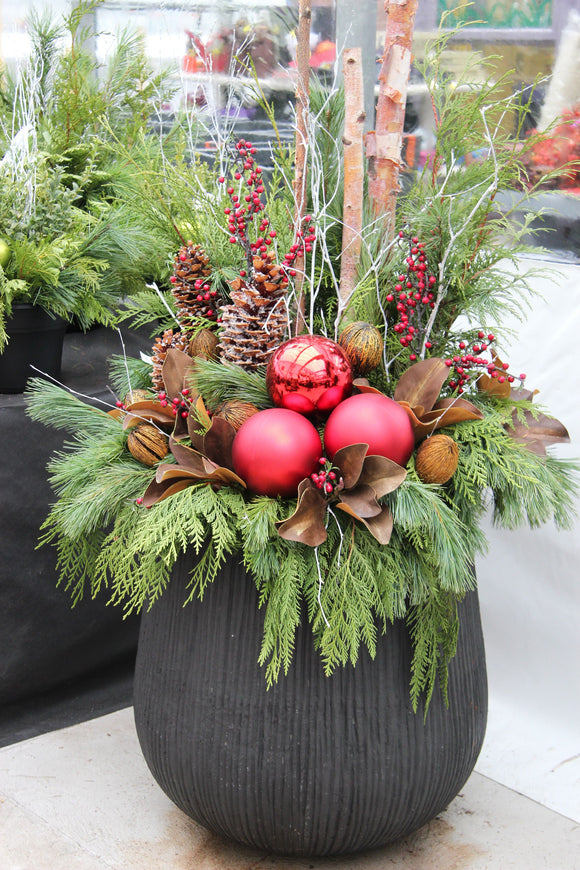 Northen Naturescapes Christmas Planters Christmas Decorations Northern Naturescapes S
