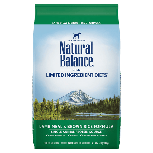 Natural Balance Dog LID Lamb Meal & Brown Rice Formula 14LB Dog Food Natural Balance