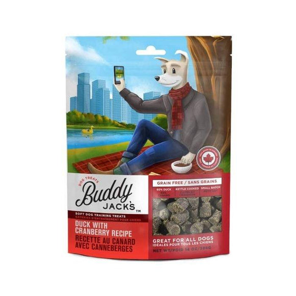 Buddy Jacks Duck with Cranberry Recipe Dog Treats Kane Vet Supplies 56 Grams