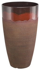 Landscapers Select Tall Planter, Round, Red